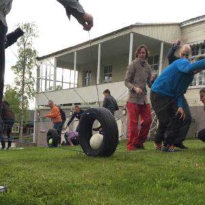 teamkamp tävling sammarbetsövning paintballtorpet paintball