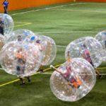 bumperballs upplåsbara genomskinliga bollar lagsport tävling barnkalas event fotbolls paus
