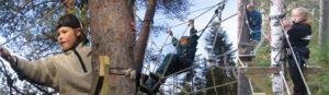 Låga höghöjdsbanan klättring skräck höjdrädsla